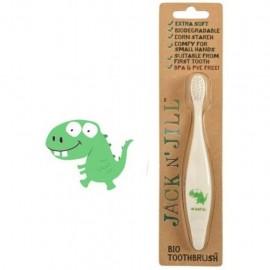 BIO dětský zubní kartáček Dino JACK N' JILL - kompostovatelný