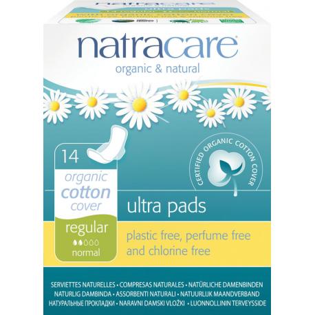 Natracare - organic regular jednotlivě balené s křidélky 14ks