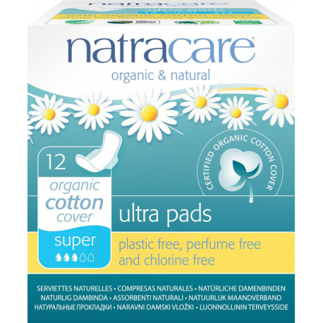 Natracare - organic ultra super s křidélky 12 ks