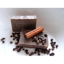 Zjemňující mýdlo s kávou a skořicí