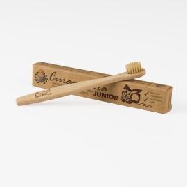 Dětský zubní kartáček Curanatura JUNIOR - bambusový kompostovatelný